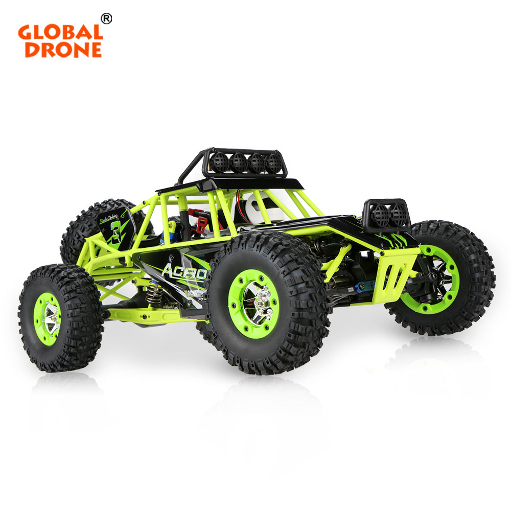 Global Drone 12428 RC Off-road Car 4WD 1:12 2.4G High Speed Four-Wheel Drive Climbing Waterproof RC Car With LED Light wltoys 12428 12423 1 12 rc car spare parts 12428 0091 12428 0133 front rear diff gear differential gear complete