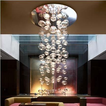 Compra lámpara de techo de burbuja de cristal online al por ...