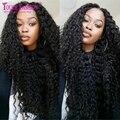 Rizado Rizado Superior de Seda Pelucas Llenas Del Cordón Sin Cola Llena Del Cordón Humano Pelucas de cabello Natural Del Cuero Cabelludo Base de Seda Rizado Pelucas Para Negro mujeres