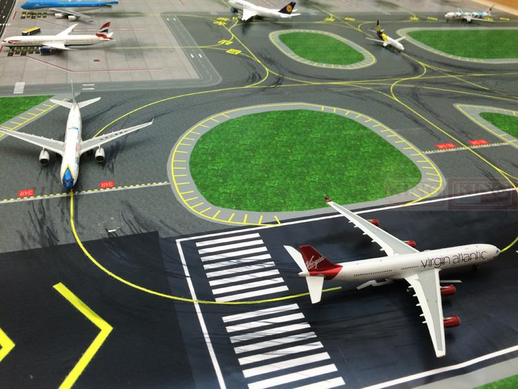 CQAPS002 1:400: 6 seat seckill airfield runway taxiway 120cmX120cm commercial jetliners plane model hobby