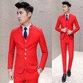 Костюм костюм мужской костюм-тройку самосовершенствование осень бизнес износ платье свадебное платье do221