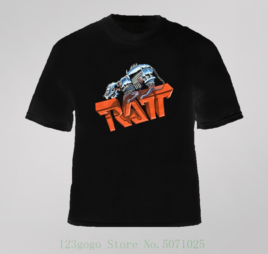 <font><b>Ratt</b></font> 80s Metal <font><b>T</b></font> <font><b>Shirt</b></font> Simple O-neck Summer Personality Fashion Loose <font><b>T</b></font>-<font><b>shirts</b></font> image