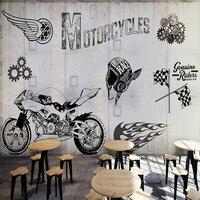 3d özel motosiklet endüstrisi metal gri duvar grafiti 3D duvar kağıdı duvar resimleri 3D duvar kağıdı oto tamir dükkanı Restoran Salonu Bar