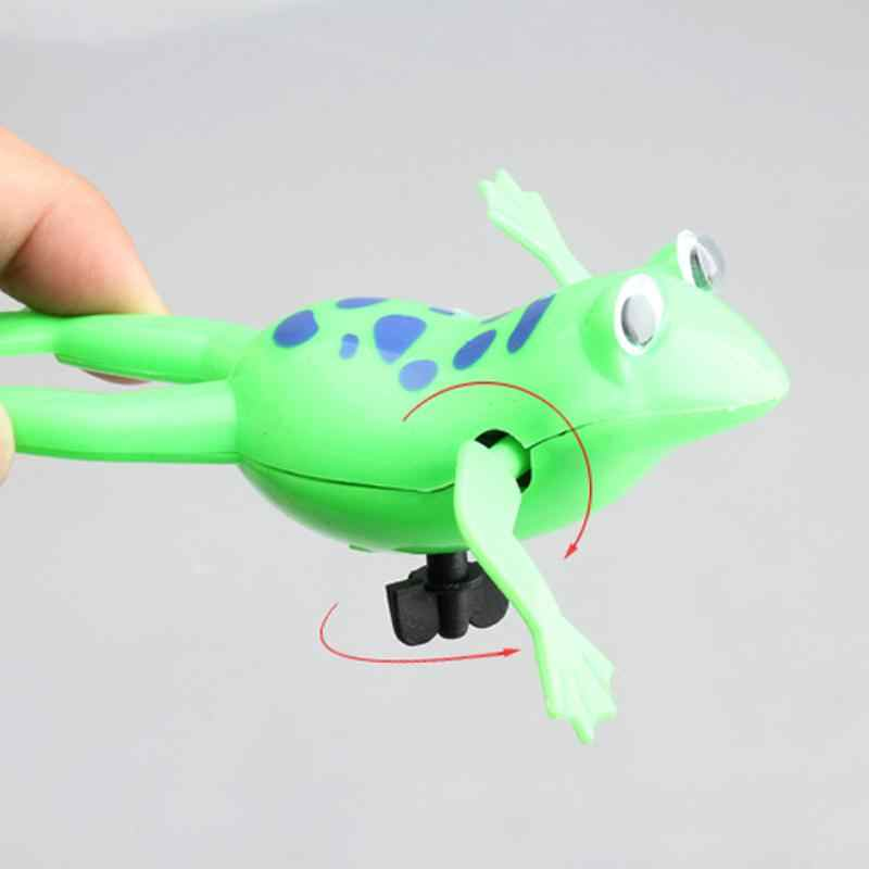 Baby Shower Clockwork Dabbling Toy Swimming Frog Battery Operated Pool Bath Cute Toy Wind-Up Swim Frogs Kids Toy Gift Present