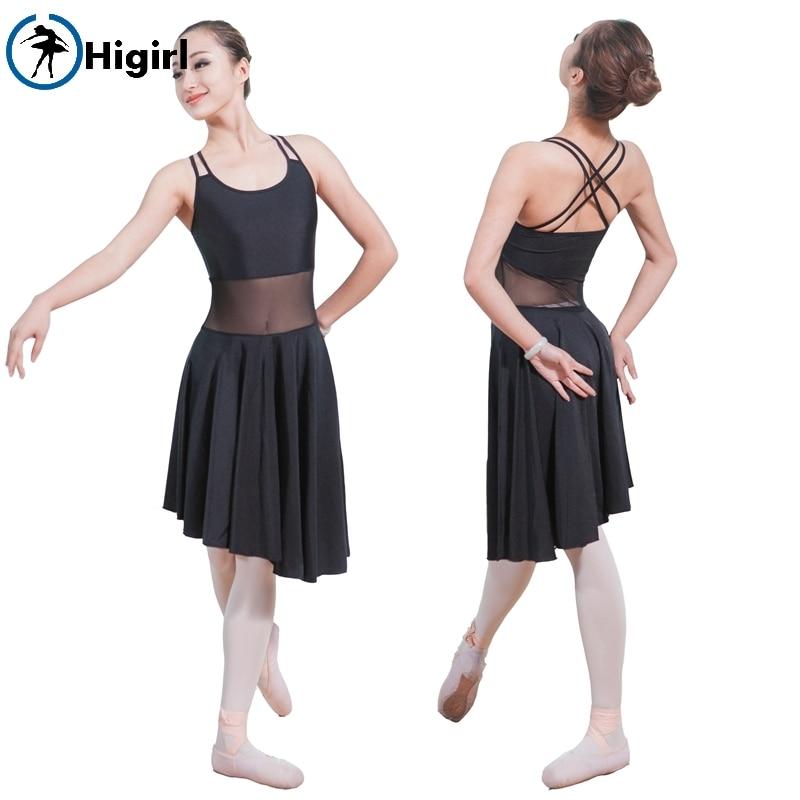 Ženy Kid Backlessblack black Dancewear Ballet trikotky Girl Practice Dance Clothes Ballet Physical Training Wear ML6029
