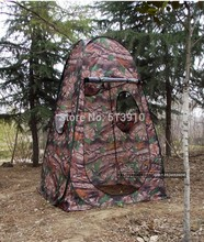 Single hide!Portable Privacy Shower Toilet Camping Pop Up Tent Army green camouflage photography tent
