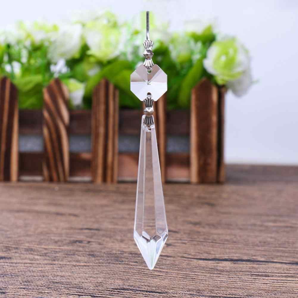 10X для штор отделения вход свободные шарики люстра прозрачный Стекло кристалл лампы призму висит Drop подвеска Set 38 мм + 14 мм