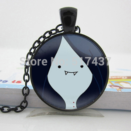 1pc Wholesale Glass Dome Necklace Adventure Time Marceline Necklace Art Glass Pendant Necklace AdventureTime Jewelry