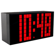 Large LED Digital Clock in Living Room Display Snooze Calendar Countdown 6 Groups alarms Silent Alarm Clock Modern Design
