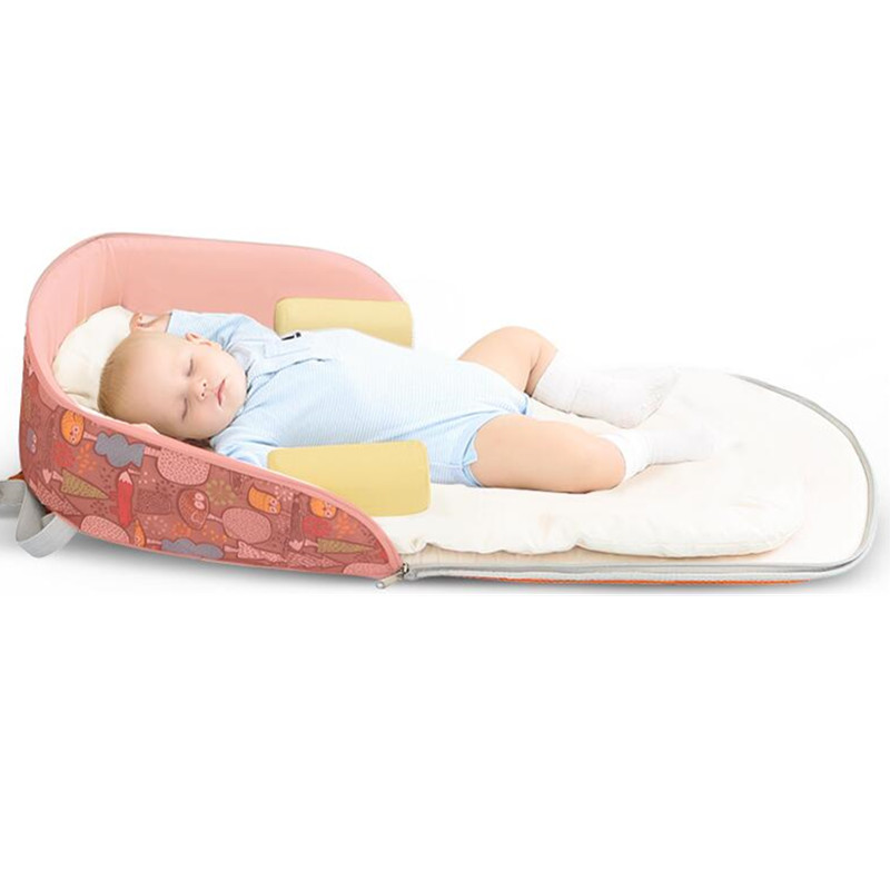 2018 nouveau lit de bébé Portable multifonction sac à dos lit pour nouveau-né en plein air pépinière voyage pliant bébé berceau bébé en bas âge berceau - 2
