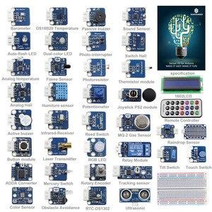 Image 1 - SunFounder 37 מודולים חיישן ערכת V2.0 עבור Arduino UNO R3 Mega2560 Mega328 ננו & MCU חינוך משתמש