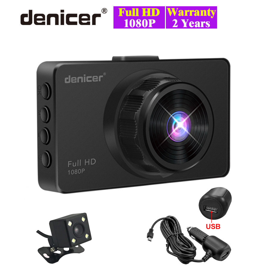 Driving-Recorder Car-Dvr Vehicle-Camera Dash-Cam Video Dual-Lens Night-Vision Full-Hd