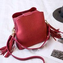 Women Shoulder Bag PU Leather Tassels Zipper Handbag Girl Casual Messenger Bags  -OPK