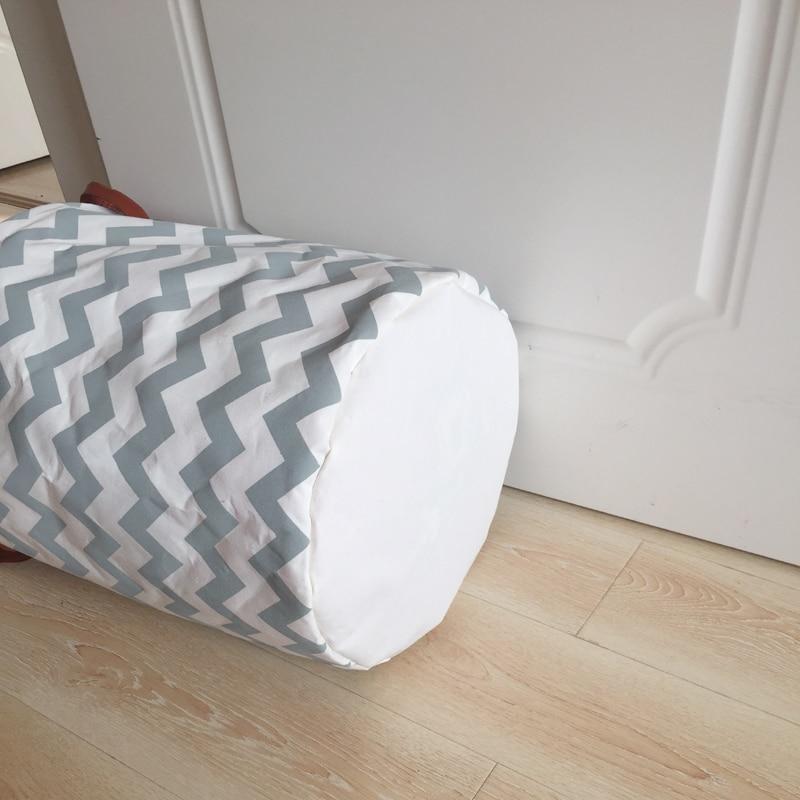 Fashion design canvas wasmand met PU handvatten grijs wave ontwerp ...