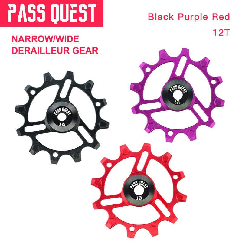 Road Bike Tbest Bike Derailleur Pulley 12T Jockey Wheel Rear Derailleur Pulley for Mountain Bike