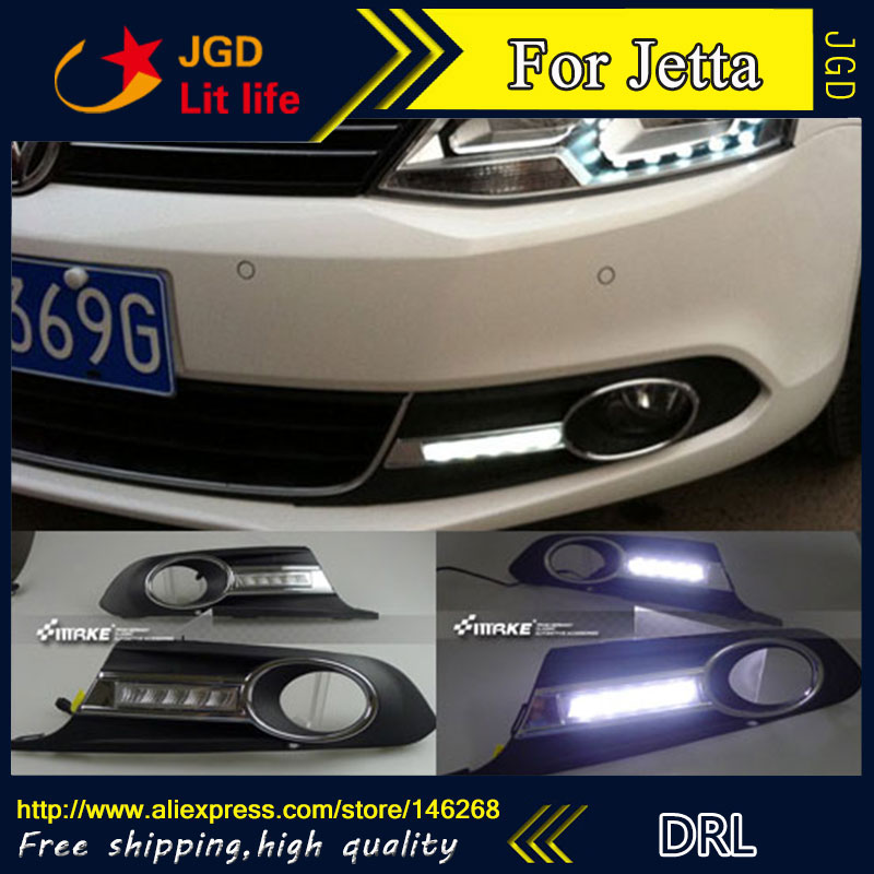 Free shipping ! 12V 6000k LED DRL Daytime running light for VW Jetta 2012 fog lamp frame Fog light Car styling free shipping original 0258007227 17014 0258007351 0258007057 fits for 99 05 vw jetta 1 8l l4 oxygen sensor front upstream