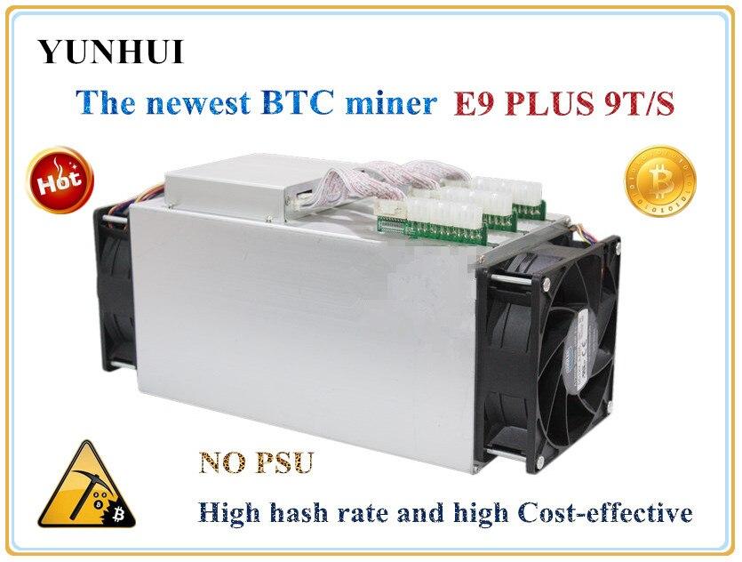 Bitcoin Minatore UTILIZZATO Ebit E9 Più 9T 14nm Asic Minatore BTC BCH Minatore (senza alimentatore) alto Costo-effectiv di S9