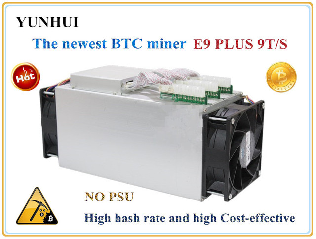 Newest Bitcoin Miner Ebit E9 Plus 9T 14nm Asic Miner BTC Miner (no psu) better than Antminer S7 and high Cost-effectiv than S9