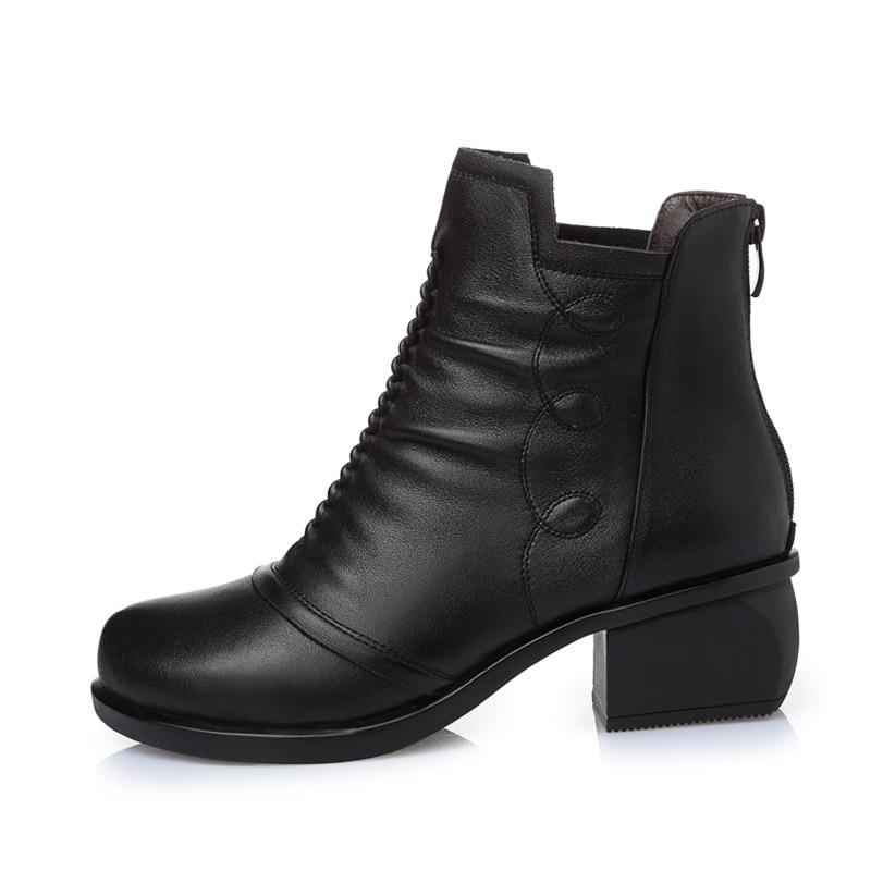 À Avec Fourrure Gktinoo Plush Automne 2018 Chaussons Court Chaussures Lining Taille Cuir Black Hiver black Lining Bottes En Grande Véritable Cheville Fabric Femmes Nouveautés dCeWBrxoQ