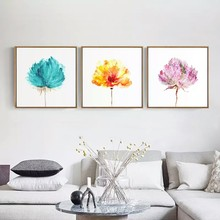 FASHION Modern Watercolor Beautiful Plant Flowers Flower Rose A4 Canvas Art Nordic Posters Wall Photo Home Decoration Painting(China)