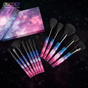 Image 5 - Docolor fırçalar 12 makyaj fırçası seti profesyonel güzellik makyaj fırça vakfı pudra allık sentetik saç