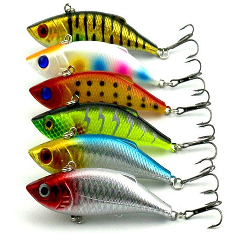 5pcs 9 8g Rattlin Vib Fishing Lure Hard Bait Artificial Lures Hooks Vibration font b Woofer