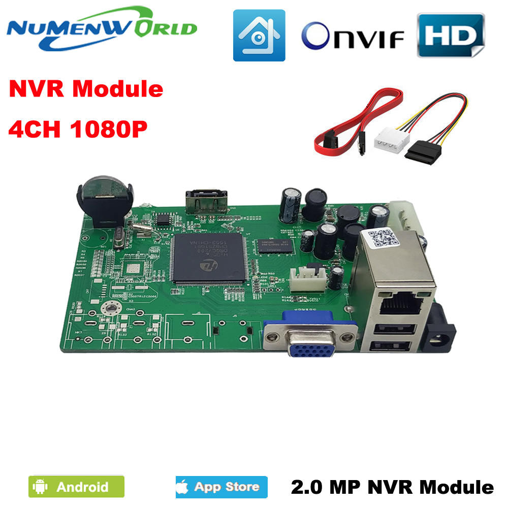 Numenworld 4CH 1080P NVR mainboard CCTV Security NVR ONVIF H.264 Network Video Recorder 4 Channel module For IP Camera system jivision mini full hd 4 channel security cctv nvr 1080p 4ch onvif 2 0 for ip camera system 1080p h 264 video recorder ip dvr p2p