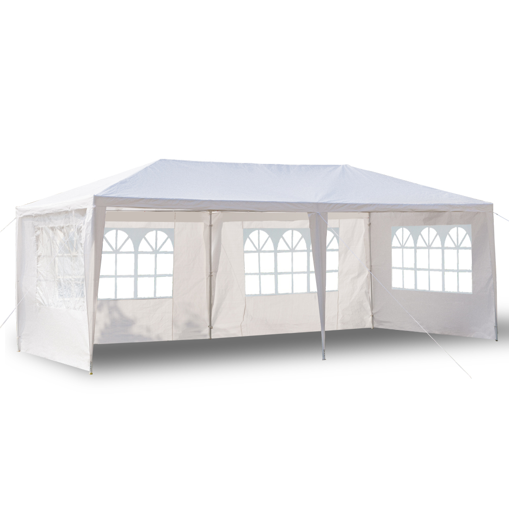 3 x 6m Four Sides Waterproof Tent with Spiral Tubes White3 x 6m Four Sides Waterproof Tent with Spiral Tubes White