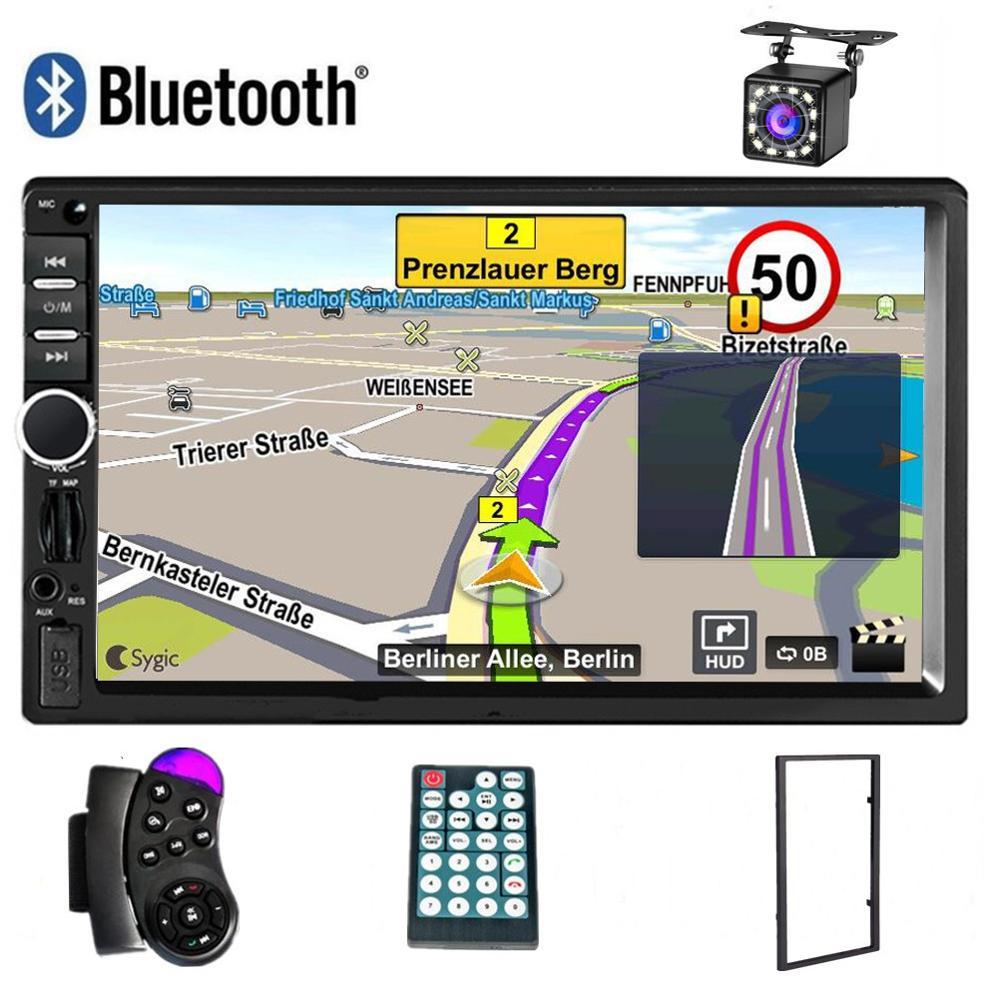Общие 2 Din Авторадио Bluetooth автомобильное радио стерео MP5 плеер Авто Multimidia gps навигация USB SD AUX плеер камера заднего вида