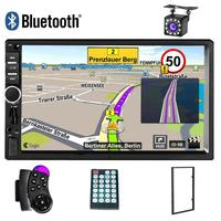 General 2 Din Autoradio Bluetooth Car Radio Stereo MP5 Player Auto Multimidia GPS Navigation USB SD AUX Player Rearview Camera