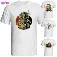 The Legend of Zelda Funny Cool Game T-shirt Fashion New Design Link Short Sleeve Anime White Printed Tshirt Men Unisex Tee