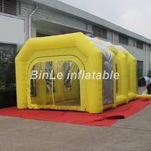 6x4x3m 자동차 유지 보수를위한 필터와 고품질 휴대용 풍선 스프레이 부스 평방 텐트 페인트 부스