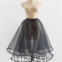 Sexy Pin-Up Girls Petticoat Vintage Elastic Underskirt Ball Gown Princess Skirt Hard Density Tulle Organza Classic Colors