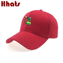 Embroidered Sipping Tea Frog Baseball Cap For Women Kermit Beer Dad Hat Hip Hop Snapback Men Cap Kpop Trucker Bone Dropshipping(China)