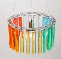 New arrival modern brief creative glass tube design LED E27 pendent light for dining room bar A017