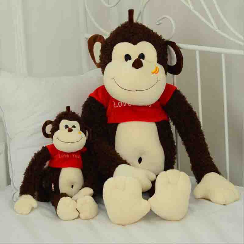 new stuffed Plush toys cute monkey banana Childrens birthdays gift Valentines Day gift