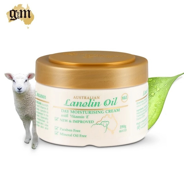 Australian Paraben & Mineral Oil free Improved gold lid GM Lanolin VitaminE Moisturising Day Cream, skin care soothe soften skin
