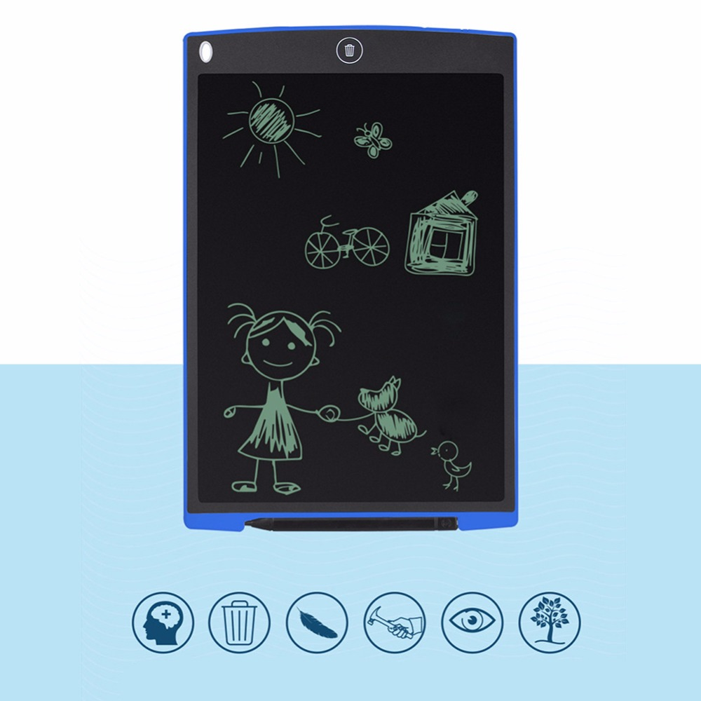 Portable 12 inch LCD Magic Scratch Toy font b Drawing b font Touchpad Electronic Whiteboard Memo
