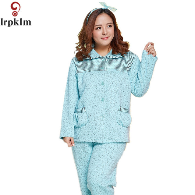 2017 New Woman Pyjamas Winter Cotton Pajamas Sets Lovely Print Pijama  Female Sleepwear Long-Sleeve Pyjama Femme Tracksuit SY512 257a62ce8