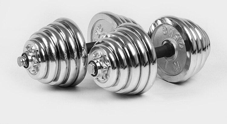 Promotion 40 KG galvanoplastie haltère 20 KG X 2 pièces haltère d'exercice 20 petit équipement de fitness à domicile