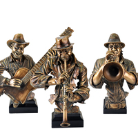 Creative Band Sculpture Furnishings Abstract Music Figure Sculpture Resin Cold Cast Copper Artwork KTV Bar Decorations Crafts