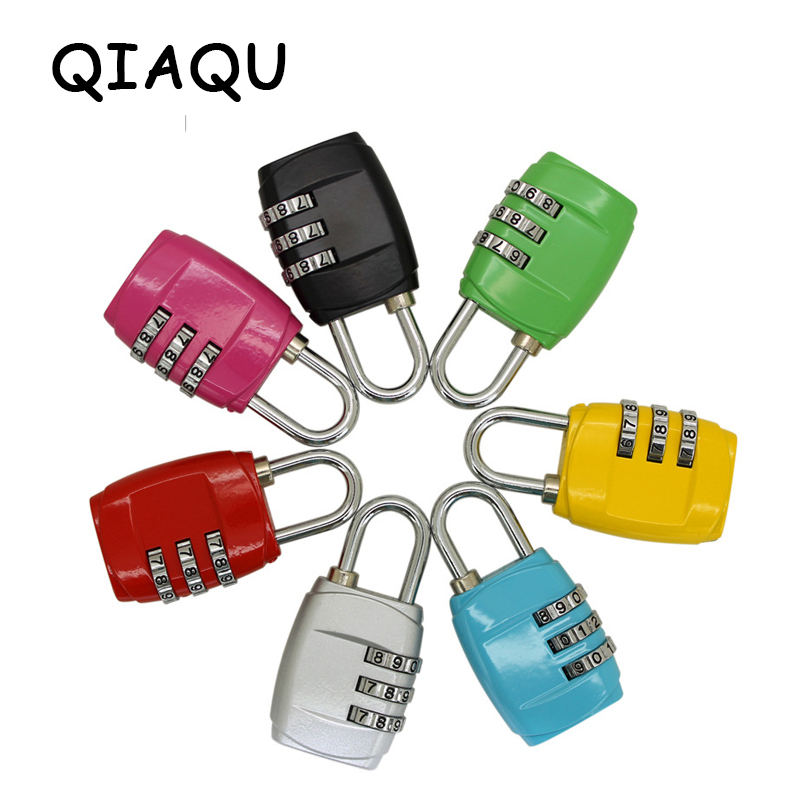 QIAQU Fashion Resettable 3 Digit Combination Safe Travel Luggage Suitcase Code Lock High Quality