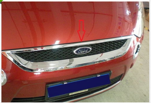 abs Chrome Front Grille Around Trim for Ford S-MAX SMAX 2007 -2010 2011 2012 abs chrome front grille around trim racing grills trim for 2013 hyundai santa fe ix45