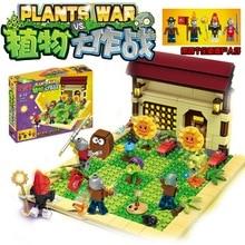 Новые Растения против Зомби Геометрическая игра игрушка действие игрушка и цифры строительные Конструкторы кирпичи Brinquedos игрушки как Лепин мой мир Minecraft