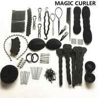 20 шт./компл. Инструменты для укладки волос, волшебные заколки для волос, шпильки роликовые, набор для плетения, губка, аксессуары для укладки,...