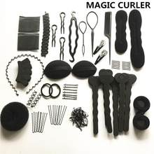 20 Pcs/Set Hair Styling Tools Magic Hair Bun Clip Maker Hairpins Roller Kit Braid Twist Set Sponge Styling Accessories Modelling(China)
