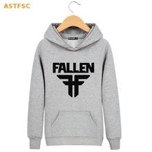 Hot Sale! New Fallen Cotton Harajuku Sweatshirt Men Black in High Quality XXS Funny Hooded mens hoodies and sweatshirts 4xl Gray