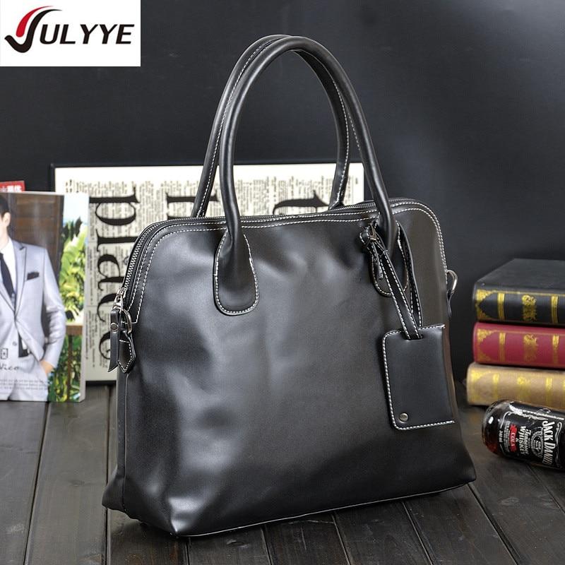 YULYYE New Fashion Men Leather Handbag Classic High Quality Leather Bag Business Men Bag 14inch Laptop Briefcase Messenger Bag все цены