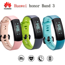 Unique Huawei Honor Band Three Sensible Band Actual-time Coronary heart Price Monitoring 50 meters Waterproof 0.91″ OLED Display screen Touchpad
