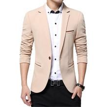 2017  spring autumn new men's business causal suit / Men's long sleeve pure color suit blazers jacket coat